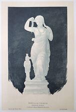 Pierre GUSMAN gravure sur bois woodcut Venus à sa toilette