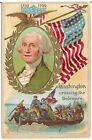 George Washington Crossing the Delaware Patriotic Postcard