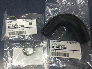 Genuine Subaru Water Bypass Hose & Clamp Kit Forester Impreza Legacy Outback OEM
