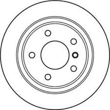 2 x JURID Bremsscheibe HA passend für BMW 3er E46 - Nonox - Art.Nr. 562094JC