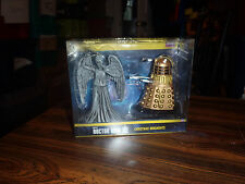 Doctor Who weeping angel & dalek christmas holiday Kurt Adler ornament set New