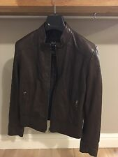 Brown lakeland Fine Leather Ladies Jacket 12. Worn Once Great Condition