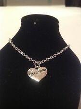 sister in law ankle braclet silver plated