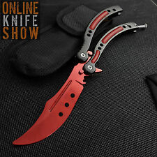 CSGO SLAUGHTER Practice Knife Balisong Butterfly Tactical Combat Trainer New