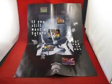 Playstation 1 PS1 Console System Anti-Sega Saturn Promo Poster Insert ONLY