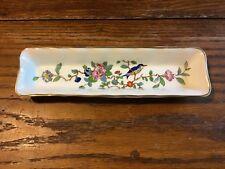 Vintage Chic English Bone China Aynsley Pembroke Floral Birds dish tray Celery