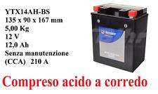 YTX14AH-BS Tecnium Batteria 12V 12Ah + Acido Honda CB S 450 1988