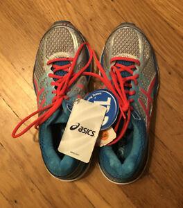 Asics Gel Cumulus 17 Womens Running Shoes Sz US 6.5 Blue Pink NEW W/ Tags