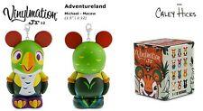 "Vinylmation Jr. Series 12 Michael Macaw Adventureland 1.5"" Disney Park"