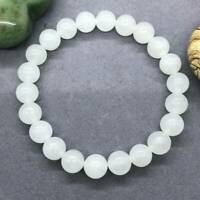 8mm Selenite Natural Stone Bracelet Energy Chakra Protection Reiki Healing Gift