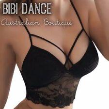 Sexy Belly Dance Black Lace Lycra Crop Top, Belly Dance Practice Wear