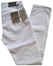Pantalone uomo jeans HOLIDAY 46 48 50 52 54 56 58 60 elasticizzato LINHAY bianco