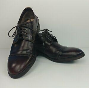 Clarks Burgundy Delsin View Dress Oxford Captoe Shoes Mens Size 13M
