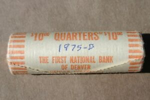 1975 D WASHINGTON QUARTER ORIGINAL BANK WRAP ROLL OBW BICENTENNIAL 25 CENTS