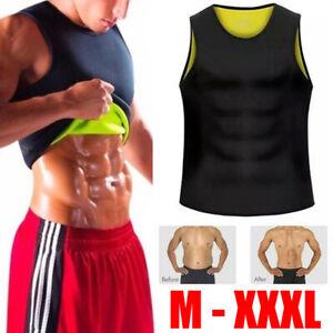 Men Neoprene Shaper Vest Sauna Suit Tank Workout Gym Fat Burning Shirt Sweat Top