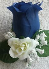 Rose Boutonniere*Corsage*Dark Blue Navy *Groom*Best man*Prom*Party*Quinceanera