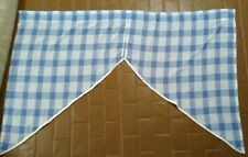 Vintage Blue And White Buffalo Checkered Corded Valances  30'W each