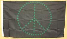 Marijuana Leaf Peace Sign Flag 3'X5' Banner Mj Maryjane Pot Blunt Smoking