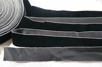"1 yard vintage black white edge velvet 1 1/2"" rayon ribbon trim Millinery dress"