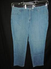 Gloria Vanderbilt Plus Size Women's Straight Leg Denim Blue Jeans Size 18W
