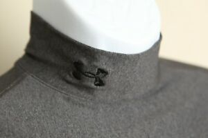 Under Armour Men's grayo long sleeve mock neck base layer ColdGear shirt Large L
