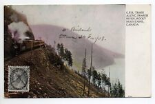 CANADA carte postale ancienne G.P.R. Train along fraser river ROCKY MOUNTAINS