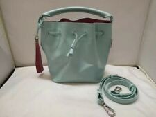 New Authentic Paul Smith's Women Leather Mini Bucket Bag Mint Green