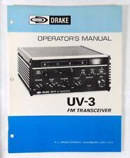 RL Drake UV-3 Brand New Original Instruction Manual