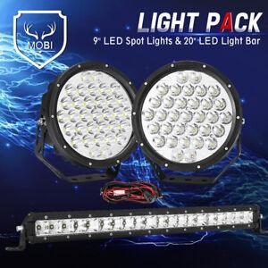 MOBI 9inch Osram SPOT LED Driving Lights Spotlight Light Bar 59898LM 1LUX-2000M