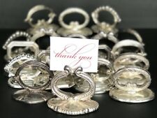 Blenheim Silver Plated Napkin Ring + Place Card Holder Lot of 19 Twos Company