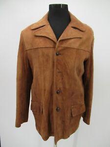 P3655 VTG 70's Men's Western Rancher Cowboy Rodeo Leather Jacket
