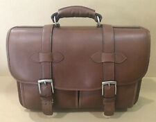 New KORCHMAR F1005 Garfield Leather Laptop Messenger Briefcase $490