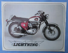 1967 Bsa Motorcycle Brochure A65 Lightning 650 A65L Vintage Technical Info 650Cc