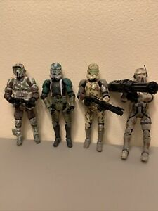 Hasbro Star Wars lot 3.75 Clone Troopers 41st AT-RT Driver Gree Kashyyyk Scout