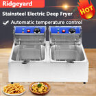 5000W 12L Stainsteel Electric Deep Fryer Dual Tank Commercial Restaurant US photo