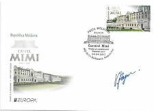 """MOLDOVA/2017, (AUTOGRAPHED BY ITS ARTIST FDC) EUROPA """"CASTLES"""", MNH"""