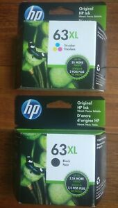 Genuine HP 63XL Black and XL Tricolor Ink Brand new Sealed Cartridge Free Ship