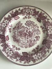 "Wedgwood Johnny Appleseed Dar 10 1/4"" creamware plate ca. 1957 Pristine Plum"