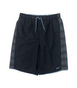 Nike Swim Trunks Men's LT Black Blue Shorts