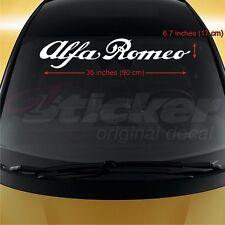 Alfa Romeo WINDSHIELD CAR STICKER vinyl decal 145 146 147 155 156 159 164 166 33