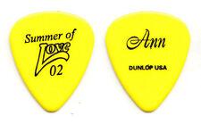 Heart Ann Wilson Signature Yellow Guitar Pick - 2002 Summer of Love Tour