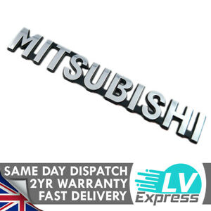 Chrome Badge Letters Tailgate Boot Rear Wing Door 145X20mm Fits Mitsu Models