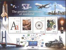 Kirguistán 2012 invenciones/Escritura/dinero/monedas/Tren/Avión/Shuttle 4v m/s s2216r
