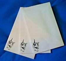 Walking Kitty Cat 3 Notepads 50 Sheets 8.5x5.5 New Black & White Drawing