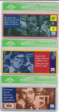 BT Commemorative set 102 to 104 Men on Phones, Mint Phonecards