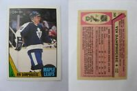1987-88 OPC O-Pee-Chee #243 Damphousse Vincent  RC Rookie  leafs