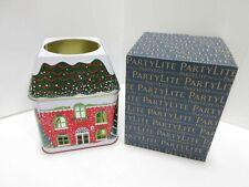 PartyLite Winter Village 3 Wick Candle Jar Tin - New & Free Shipping