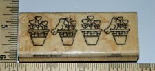 Heart Plant Floral Border Finders Keepers Wood & Foam Rubber Stamp