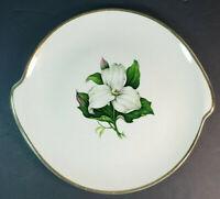 "American Limoges China Glamour Trillium 22K Handled Cake Plate 11"""