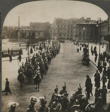 STEREOVIEW RUSSIAN LANCERS PARADE.